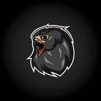 Eagle hoofd mascotte logo sjabloon