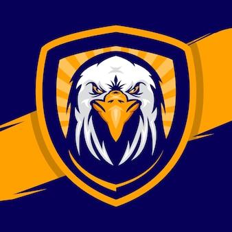 Eagle hoofd mascotte logo