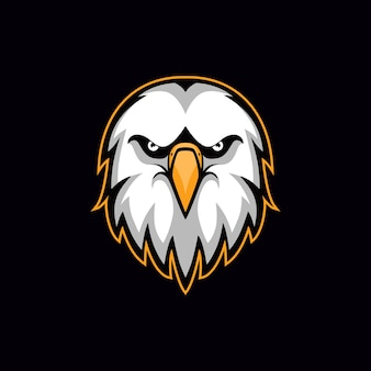 Eagle hoofd vector illustratie esport mascotte logo