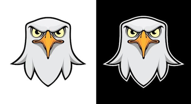 Eagle hoofd vector logo