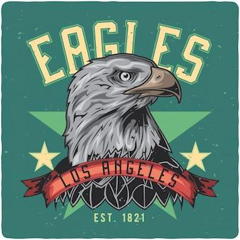 Eagle hoofd.