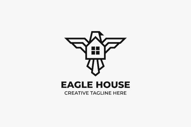 Eagle house minimalistisch logo