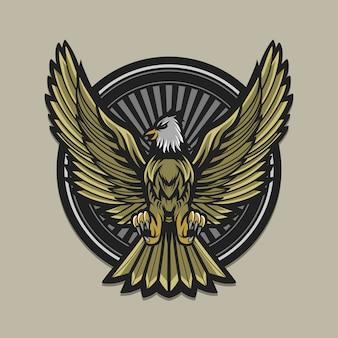 Eagle-illustratiekunstwerk