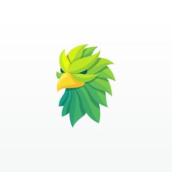 Eagle kleurrijk geometrisch logo