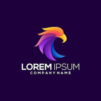 Eagle kleurrijke logo illustratie