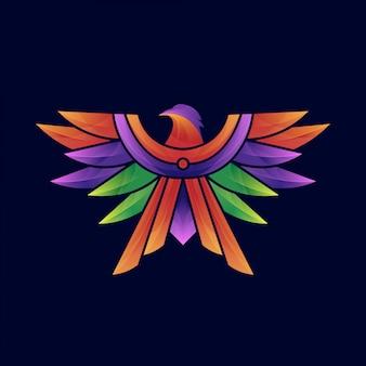 Eagle kleurrijke logo sjabloon