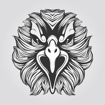 Eagle lijntekeningen zwart en wit