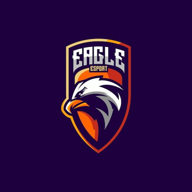Eagle-logo-ontwerp voor esport