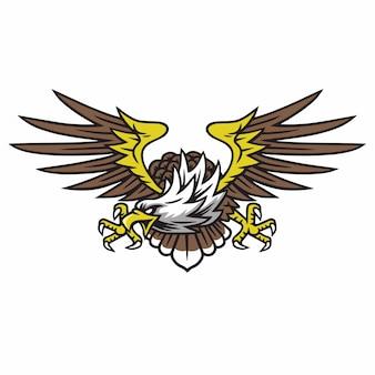 Eagle logo retro tattoo design