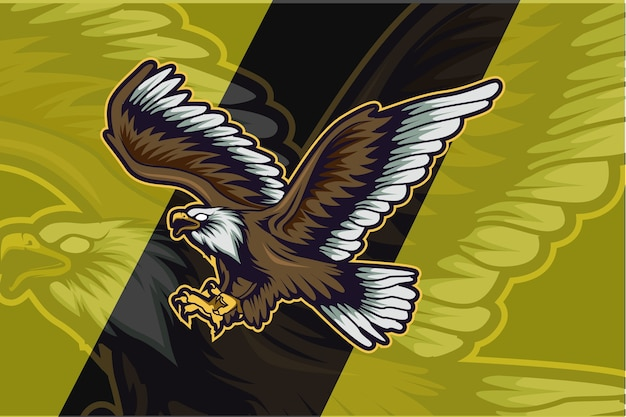 Eagle-logo voor sportclub of teamsjabloon