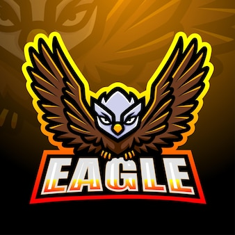 Eagle mascotte esport illustratie