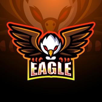Eagle mascotte esport logo illustratie