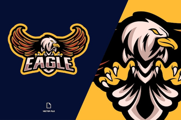 Eagle mascotte esport logo illustratie
