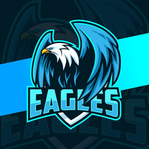 Eagle mascotte esport logo