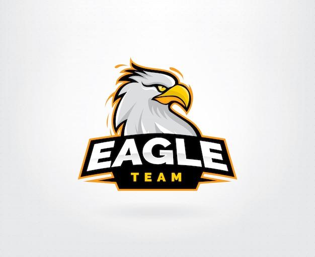 Eagle mascotte karakter logo ontwerp