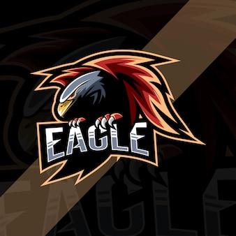 Eagle mascotte logo esport ontwerp
