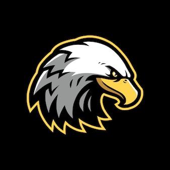 Eagle mascotte logo ontwerp