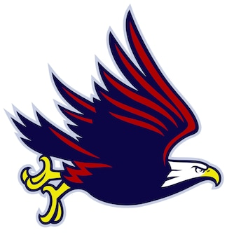 Eagle mascotte vliegen