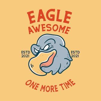 Eagle met schedel illustratie karakter vintage design voor t-shirts
