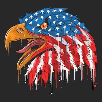 Eagle onafhankelijkheid vs vlag amerika