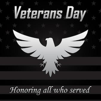 Eagle-pictogram voor veteranendag.