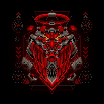 Eagle robot heilige geometrie