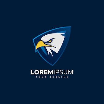 Eagle shield mascot logo