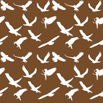 Eagle symbool ingesteld naadloos patroon. vector illustratie. eps-10.