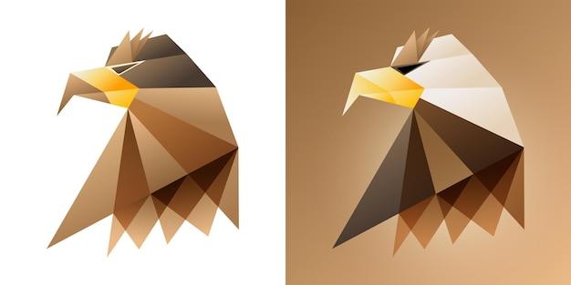Eagle vectorillustraties met geometrische vormen