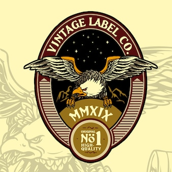 Eagle vintage badge ontwerp