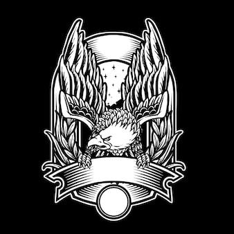 Eagle vintage badge ontwerp