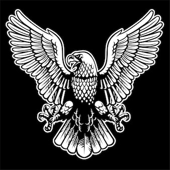 Eagle zwart en wit