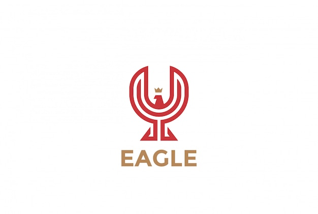 Eaglelogo vector icoon.