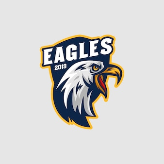 Eagles mascot-logo