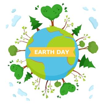 Earth day concept illustratie