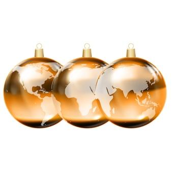 Earth globe 3d, glanzende planeet, vector