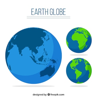 Earth globe set