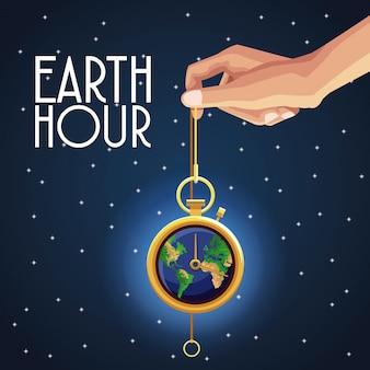 Earth hour ontwerp