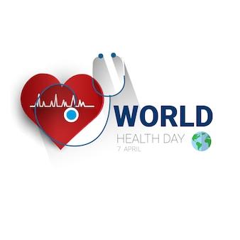 Earth planet health werelddag wereldwijde vakantiebanner met kopie ruimte