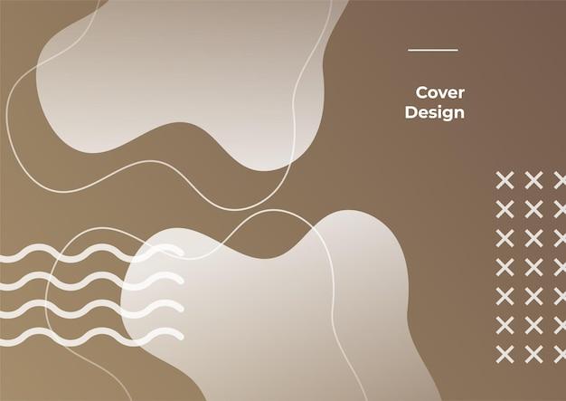 Earth tone kleurverloop geometrische achtergrond. minimale abstracte achtergrond met memphis-element. dynamische vormen compositie