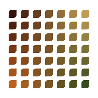 Earth tone vector kleurenpalet