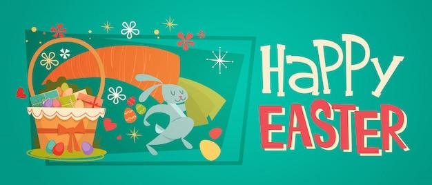 Easter basket banner