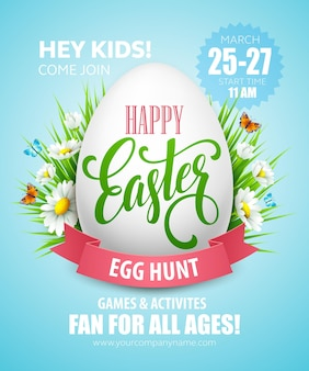 Easter egg hunt poster.