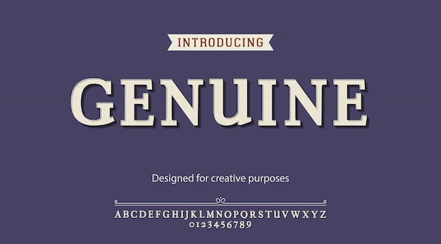 Echt lettertype. voor creatieve doeleinden
