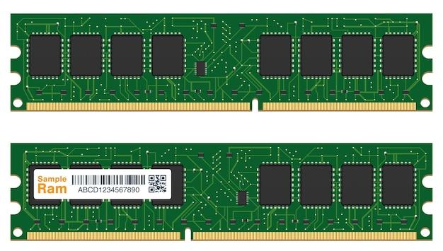 Echt willekeurig toegankelijk geheugen of ram-computer