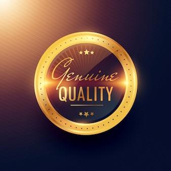 Echte kwaliteit premium gouden etiket en badge ontwerp
