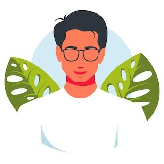 Echte mensen portretten hand getekende vlakke stijl vector design concept illustratie van mannen, mannelijke gezichten en schouders avatars. vlakke stijl vector iconen set. moderne mooie avatar van de mens.