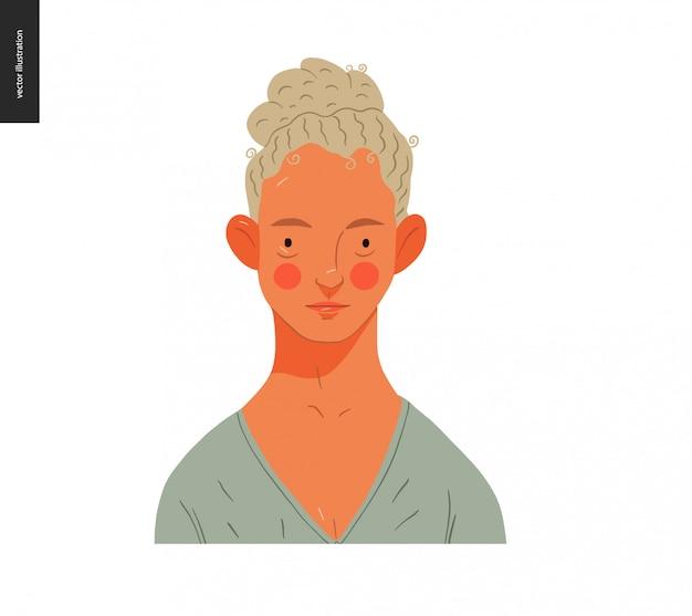 Echte mensenportretten - blonde vrouw