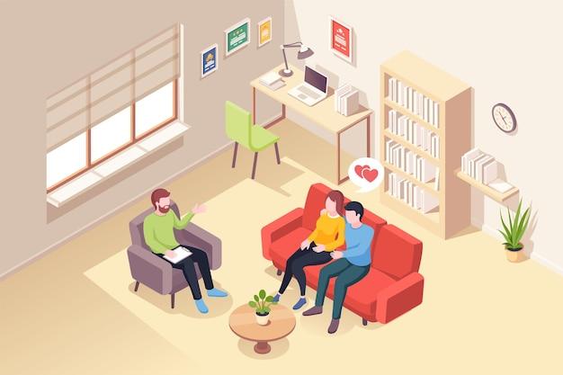 Echtpaar bij psycholoog counseling