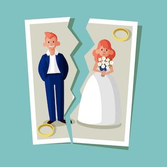 Echtscheiding concept illustratie